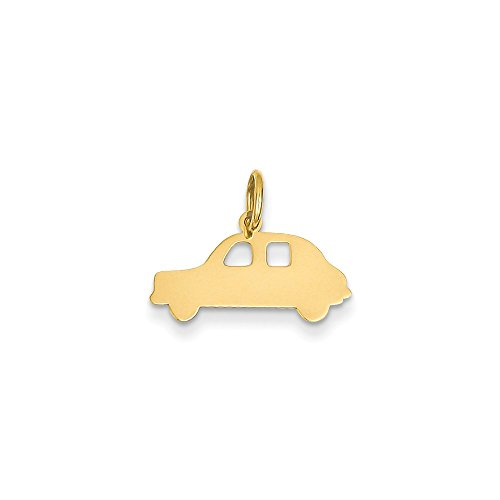 14k Gold Compact Car Charm Pendant (0.59 in x 0.75 in)