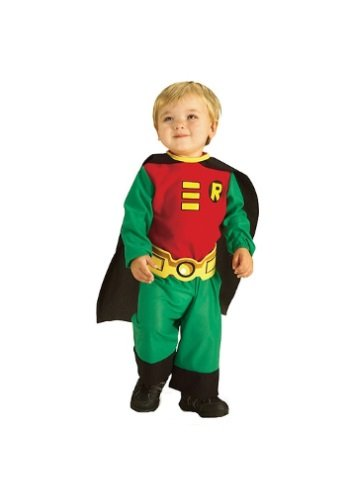 Halloween Party Ideas For Teenagers (Rubie's Costume Co Teen Titans Robin Jumpsuit, Green/Red/Black, Infant 6 - 12 Months)