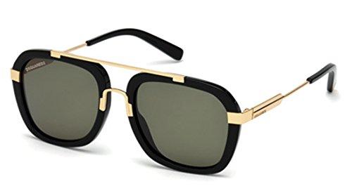 Unisex green shiny Adulto Jordin 0 Negro Gafas Sol Black Dsquared2 De 53 zqCfxwqI