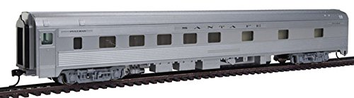 85' Budd 10-6 Sleeper - Ready to Run -- Santa Fe (silver) (Car Fe Santa Passenger)