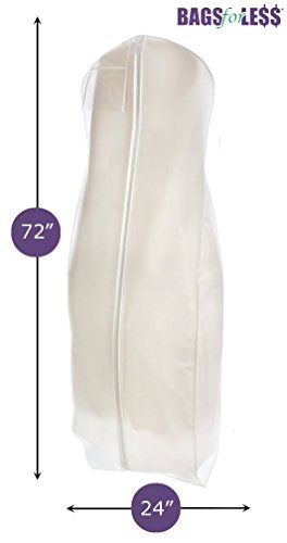 White Wedding Gown Travel & Storage Garment Bag By Bags For Less (Large Garment)