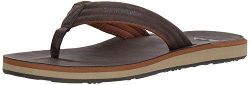 Quiksilver Men's Carver Nubuck Sandal, Brown, (Nubuck Mens Sandals)