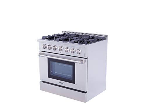 Thor Kitchen Professional 36'' HRG3618U 5.2cu.f t.Oven 6 Burners Gas Range ()