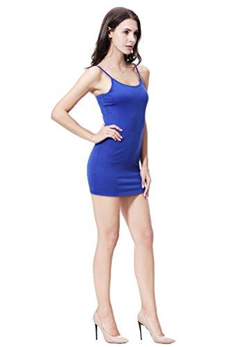 Vestido Azul Tramo Respaldo Atractivo Espagueti 1 beginning Auspicious Cuello Correas Mujeres sin Redondo p0gYP