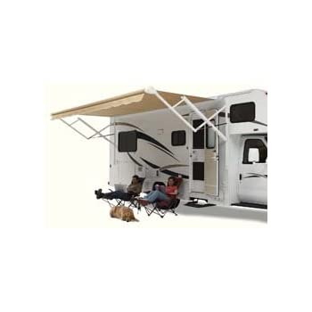Carefree OVJVAPHW Travelr Black With Casting Adjustable Pitch 12 Volt Electric RV Awning