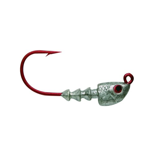 Bass Assassin Red Hook Jighead 1/4 oz - (0.25 Ounce 4/0 Hooks)