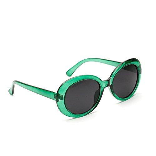 De Lunettes Mode Femmes Cadre Des Les Vintage Soleil Hommes Vert Lunettes RéTro Arrondi Rondes AdcqWAZ