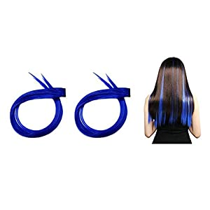 Ekan Colored Hair Extensions Clips For Kids Colored Streaks Hair Extension For Girls Pack of 1 (m1)