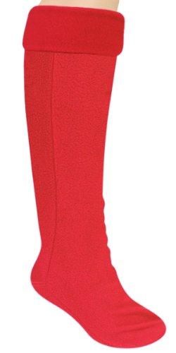 Capelli New York Solid Fleece Tall Rain Boot Liner Red Devil M/L