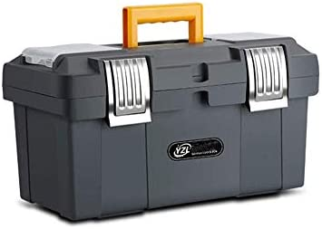 CHUNSHENN ツールボックス 工具箱 以下のために適した家庭用屋外修復ツールストレージボックス、二層グレイ多機能サイズ(46 * 21 * 21センチ)(色:グレー、サイズ:46 * 21 * 21センチ)