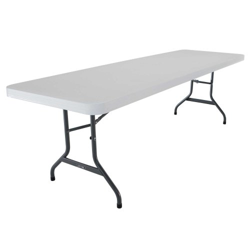 [Lifetime 42980 Folding Utility Table , 8 Feet, White Granite, Pack of 4] (8 Utility Table)