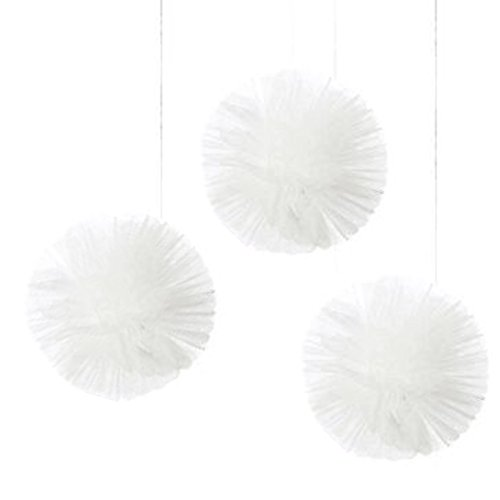 Tulle Fluffy Decorations - White