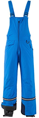 Wantdo Men's Waterproof Windproof Skiing Bib Pants Hiking Snow Overall Blue XL (Mens Skiing Bibs)