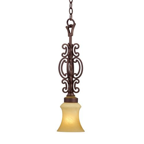 Kalco 4438TP Hamilton 1 Light Mini Pendant, Tawny Port