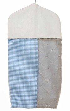 Glenna Jean Starlight Diaper Stacker, Blue/White/Grey/Silver Metallic