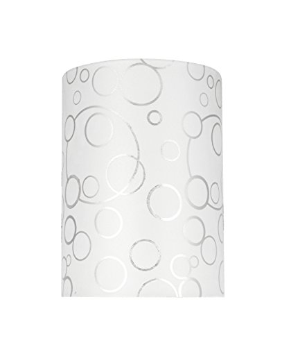 (Aspen Creative 31114 Transitional Hardback Drum (Cylinder) Shaped Spider Construction Lamp Shade in White, 8