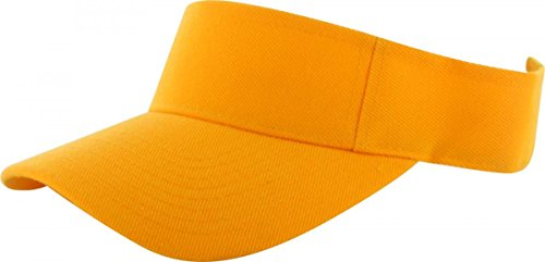 Orange_Plain Visor Sun Cap Hat Men Women Sports Golf Tennis Beach New Adjustable (US Seller)