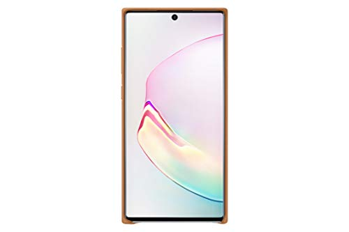 Samsung Official Galaxy Note 10 / Note 10+ Case, Leather Back Protective Cover Case (Camel, Galaxy Note - Plus Camel