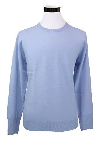 Shephe 4 Ply Men's Round Neck Cashmere Sweater Sky Blue ()