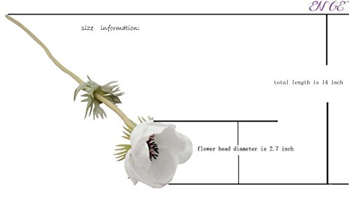 ENGE-10-Heads-Mini-Artificial-Anemone-Wedding-Bridal-Bouquet-Home-Flower-Grass-Rose-10-greenin-Wite