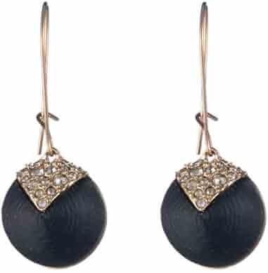 39e50b864d8058 Alexis Bittar Crystal Encrusted Origami Inlay Dangling Sphere Kidney Wire Drop  Earrings