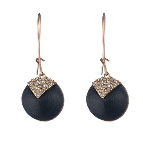 Alexis Bittar Crystal Encrusted Origami Inlay Dangling Sphere Kidney Wire Earring -