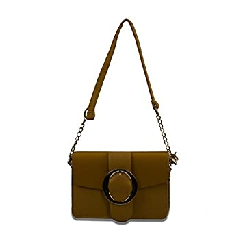 804acac38f55 Buy Femiga Women Top Handle Stylish Handbags-Yellow(SLB037-YELLOW) Online  at Low Prices in India - Amazon.in