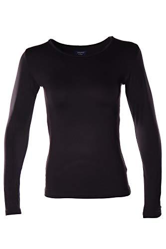 Women's Microfiber Fleece Thermal Underwear Long Johns AZ 2001 Black L