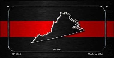 Virginia Thin Red Line Novelty Bicycle License Plate BP-9735 by Smart Blonde