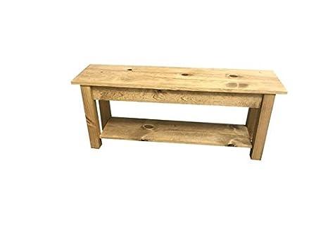 Incredible Ranch Golden Oak Storage Bench 36 Short Links Chair Design For Home Short Linksinfo