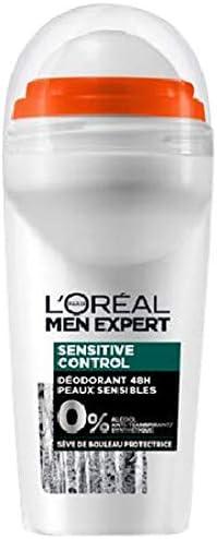 LOréal Men Expert Sensitive Control Déodorant Bille Homme Peau Sensible 50 ml: Amazon.es: Belleza