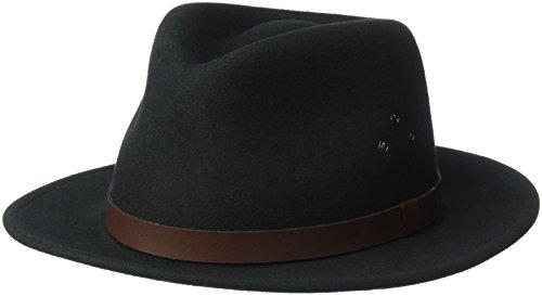 Country Gentleman Men's Dickens Fedora Hat, Black, M