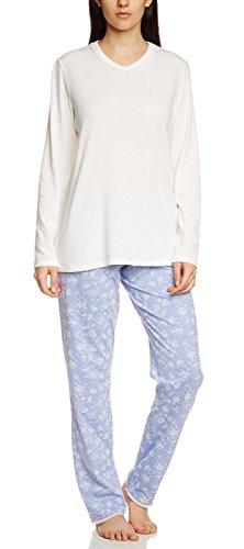 Seidensticker Damen Zweiteiliger Schlafanzug Anzug lang, 1/1 Arm, Gr. 50, Beige (sekt 403)
