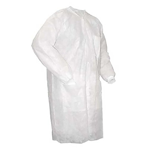 Wrinkle-Free Medical Blue ValuMax 3660MBL Extra-Safe Noble Looking Disposable SMS Knee Length Lab Coat Pack of 10 L