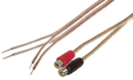 Amazon.com: 1\' 18 Gauge Speaker wire with RCA Female Pair (Black ...