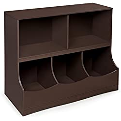 Badger Basket Multi-Bin Storage Cubby, Espresso