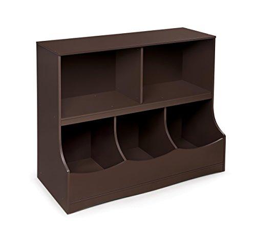Amazon Com Badger Basket Kid S Storage Bench With Cushion And 3 Bins Espresso Baby
