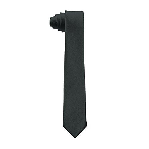 uxcell Men Bussiness Party Self Tie Neckwear Clothes Decor Slim Necktie Black