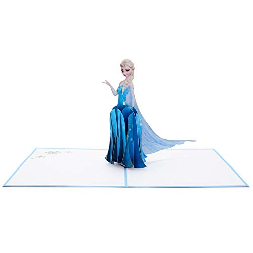 Frozen Queen Elsa Arendelle 3d Pop Up Birthday/Greeting Card -