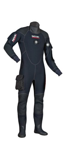 Scubapro Drysuit - SEAC Men's Warmdry 4mm Neoprene Dry Suit, Black, XX-Large