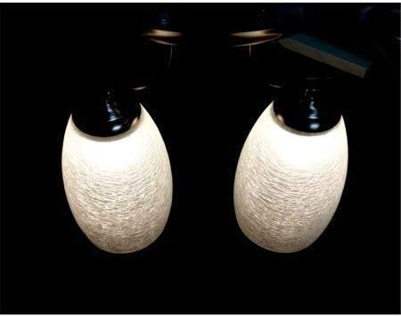 Dream Lighting LED 12volt DC Vintage Elegant Double Glass Pendant Ceiling Light with Switch for RV Trailer Boat Interior Decoration- Broken Glass Lampshade, Warm White