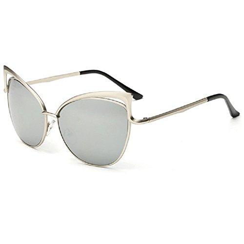 Z-P Women's Geek Cateye Metal Frame Soft Colour Anti-UV400 - Get Should Ray I Bans What