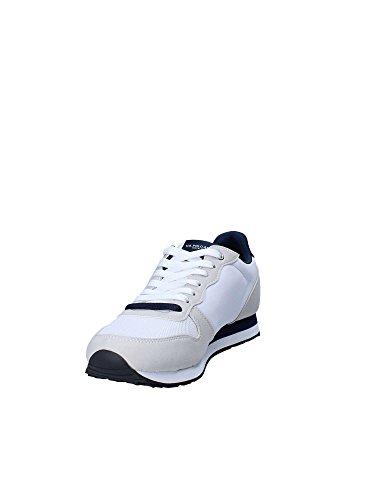 Para Gomma e Laterale in Camoscio Ralph Logo Dkbl Sneaker in Con Polo e Lauren Polo Tessuto 7P6Fxzqn