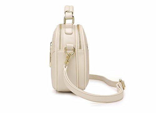 Inclinado Blanco Manera de Bolso Las CCZUIML Mujeres Bag la Hombro de Beige Bolso del de Mini w0zZIqFz