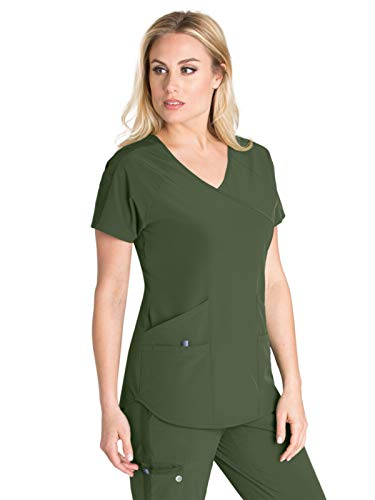 Barco One Wellness BWT008 Raglan Scrub Top Green Space 3XL ()