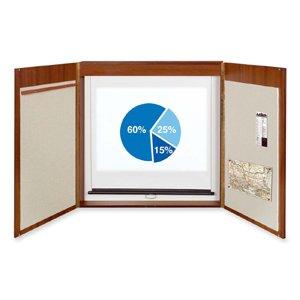 Bi-silque 4-In-1 Presentation Cabinet, 2-1/4 by 47-1/4 by 47-1/4-Inch, Mahogany