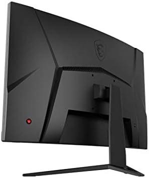 "MSI OPTIX G32CQ4 QHD 1500R CURVATURE 16:9 ASPECT RATIO NON-GLARE SUPER NARROW BEZEL 1MS 2560 X 1440 165HZ REFRESH RATE TILT ADJUSTMENT AMD FREESYNC 32"" CURVED GAMING MONITOR, BLACK"