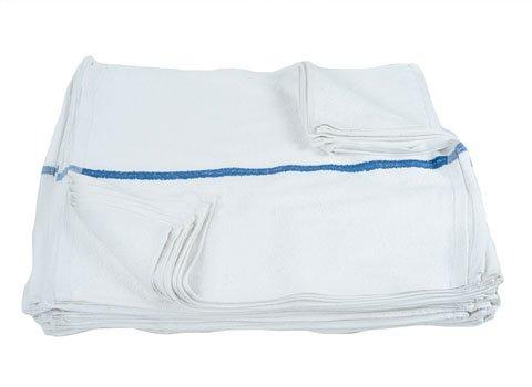 RagLady Terry Bar Mop Towels w/Blue Stripe - 16'' x 19'' - Case of 180 by RagLady (Image #1)