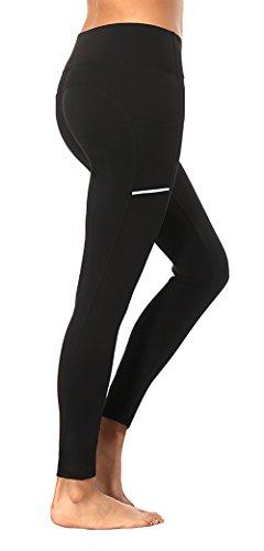 Olacia Women Leggings with Pockets Athletic Pants Tummy Control Workout Leggings