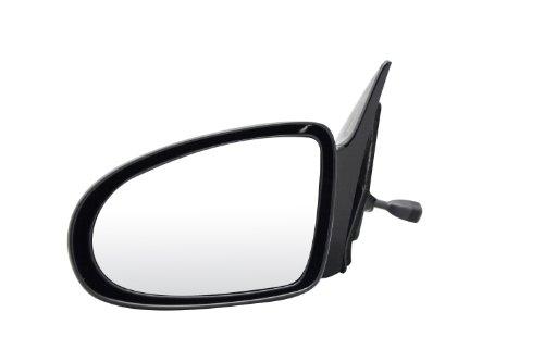 Geo Prizm Mirror Glass (Pilot GO2209410-0L00 Geo Prizm Black Manual Remote Replacement Driver Side Mirror)